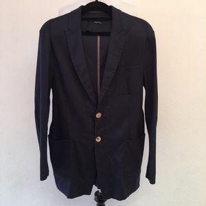 Giorgio Armani Linen Blue Blazer Size 52 IT 42 US